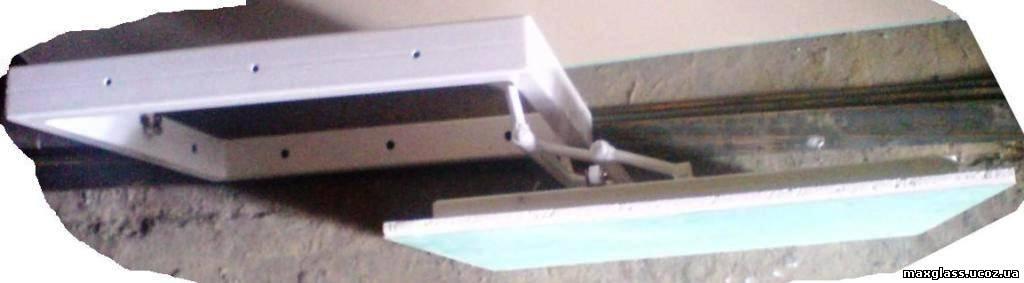 потайной люк под плитку сдвижной